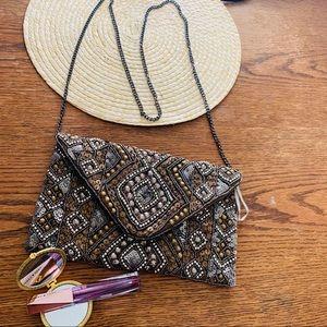 Forever21 Embellished Envelope Chain Shoulder Bag